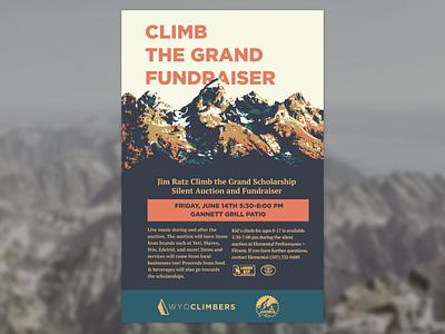 Climb the Grand Fundraiser Poster print design poster design