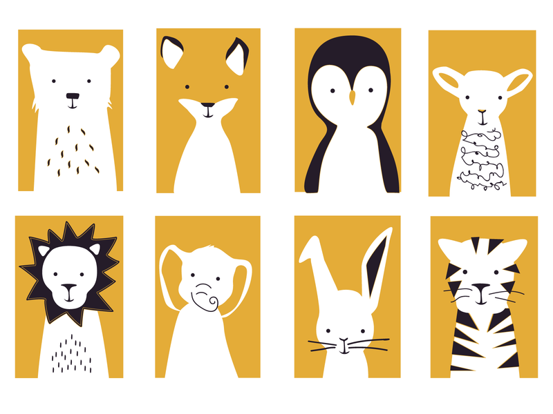 Animal Screen Print illustration print design animal art screenprint