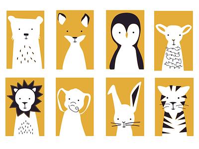 Animal Screen Print illustration print design animal art screenprint