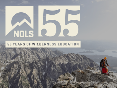 NOLS 55th logo design logo 55 years anniversary logo deisgn