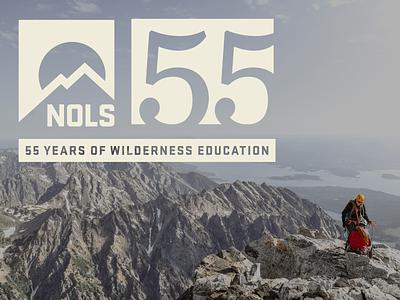 NOLS 55th logo design logo 55 years anniversary logo deisgn