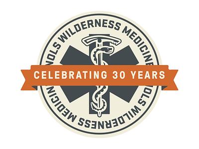 Wilderness Medicine 30th anniversary design logo 30th anniversary