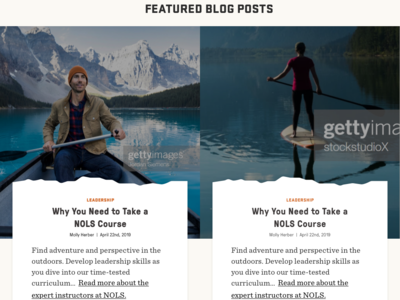 Featured Blog Posts on Homepage