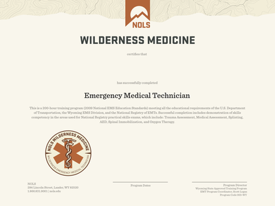 Wilderness Medicine Certification certification certificate print diploma