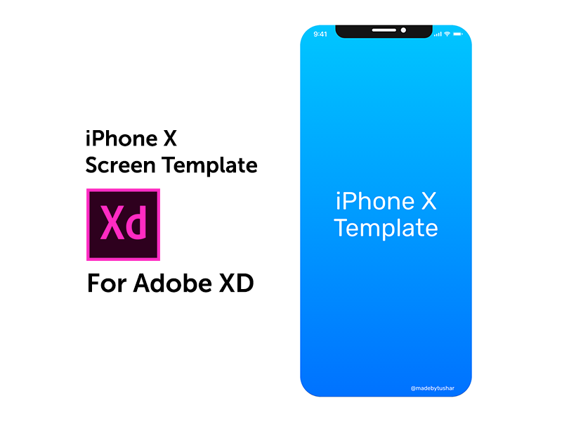 iPhone X Screen Template - Adobe XD by Tushar Gupta on Dribbble