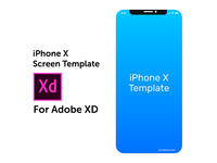iPhone X Screen Template - Adobe XD