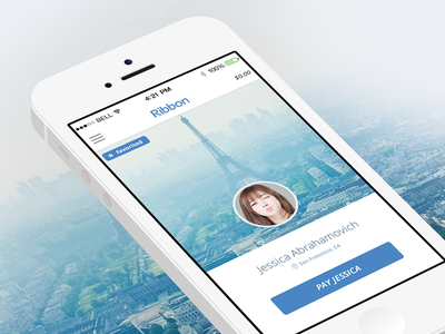 Ribbon Profile App ribbon.co rbn.co ribbon payments credit card ecommerce e-commerce vcard profile pay send money