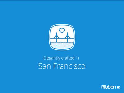 Ribbon elegantly crafted icon