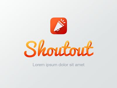 Logo Icon Ish wavy shout out shoutout sean blake bluefox yell curly loopy ribbon ribbons orange
