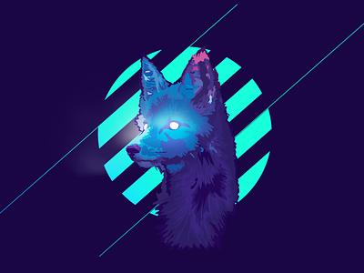 Bluefox bluefox blue fox sean blake dark neon