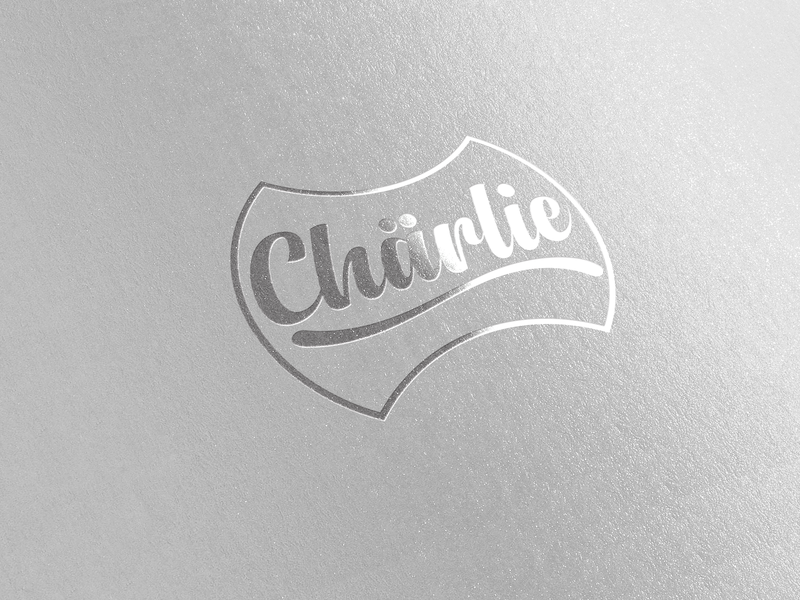 Charliemetallic Silver Logo Mockup illustrator identity clean type icon branding typography design logo illustration