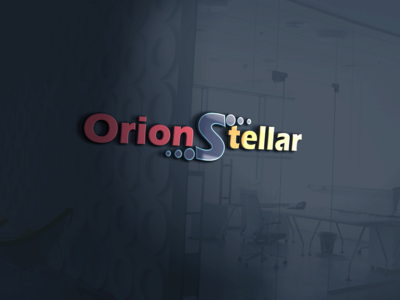 Orions3d Glass Window Logo Mockup