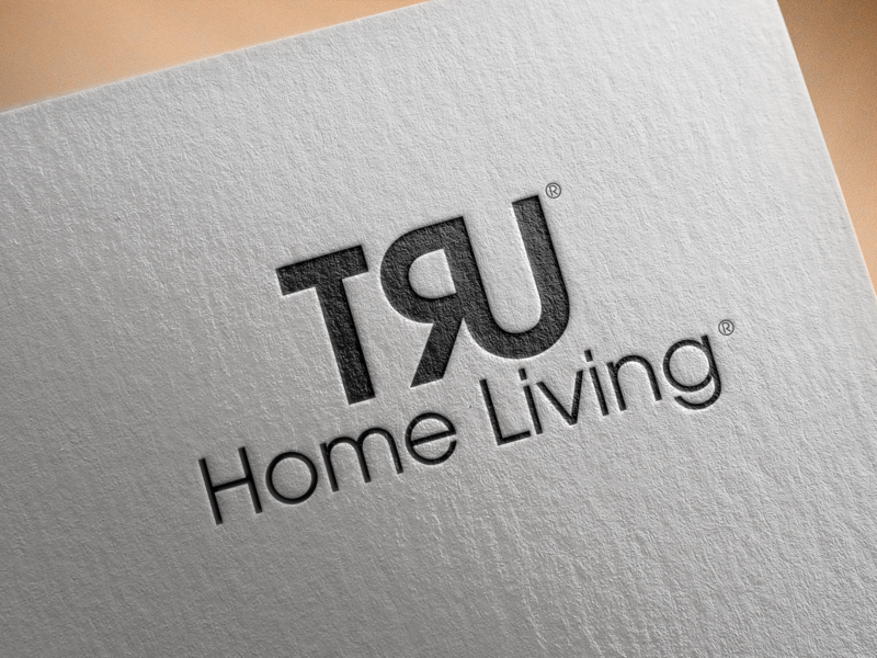 Tru Logo Mockup Psd On Textured Paper icon clean type lettering illustrator identity typography branding illustration logo design