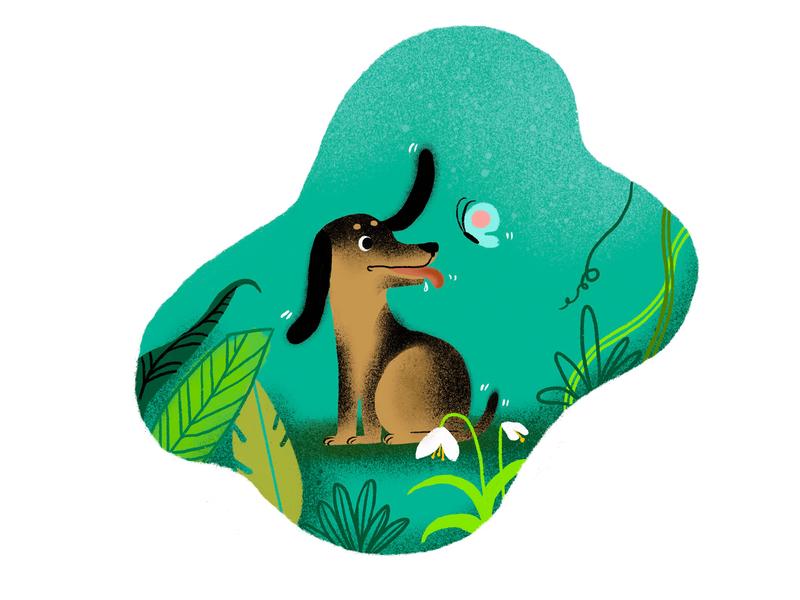 dog dog icon animals illustrated ui branding design illustration children art