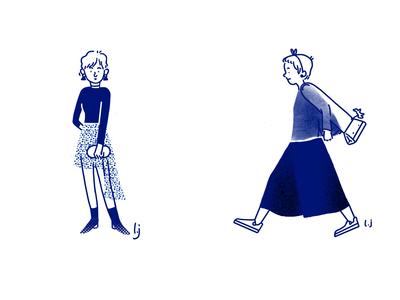Fashion blue girl