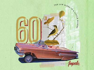 Chevy Impala 60. Collab with my friend Bruno Meira illustration collage digital colagem digital graphic  design digital collage collage art design collage colagem