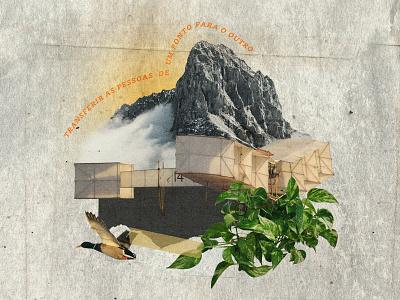 Transferir as pessoas de um ponto para o outro illustration collage digital colagem digital graphic  design digital collage collage art design collage colagem