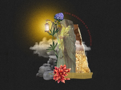 The hermit! tarot thehermit illustration collage digital colagem digital graphic  design digital collage collage art design collage colagem
