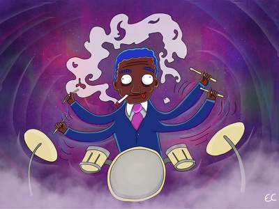Art Blakey And The Jazz Messengers For Jazz And Draw art blakey drummer musician photoshop illustration music drumming