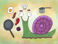 Snail Chef By Ed Clews