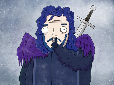Jon Snow Knows Nowt By Ed Clews hbo game of thrones jon snow