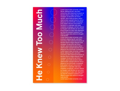 He Knew Too Much type print poster design poster a day posters editorial design typography graphicdesign design branding