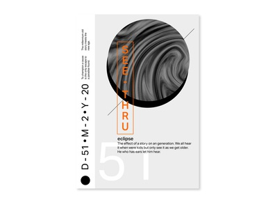 Eclipse minimal print design poster art poster a day posters poster symbol typography graphicdesign design branding