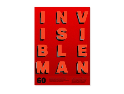 Invisible Man design challenge texture type poster design poster a day poster illustration typography graphicdesign design branding