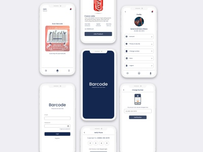 Barcode Application typography illustration branding ui ux web design designui app ui ux web web ui ux app