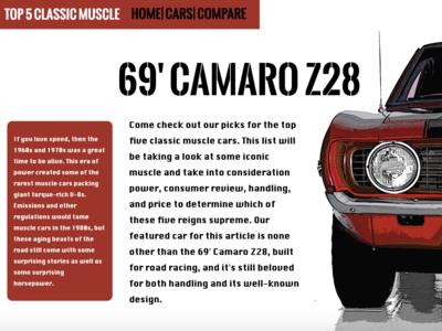 Car Web Design Concept