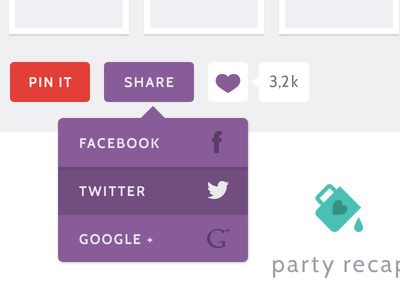 Party Time purple turquoise cabin party ui