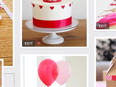 Photo Edit - Pink Dot pink parties edit cabin website design ui design web design roboto slab photo