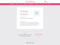 User profile dashboard