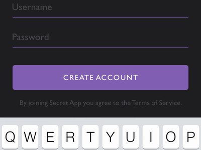 Mobile app: Sign up gill sans mobile app purple fox iphone android