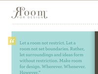Room for Design: V2