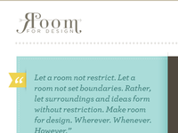 Room for Design: Better Quotation