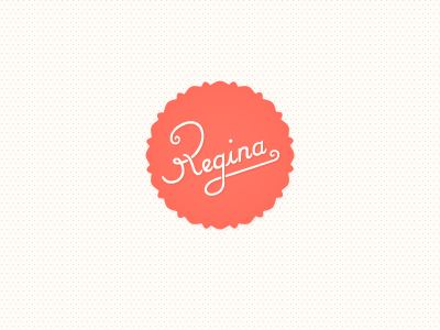 Regina Casaleggio Logo logo hand lettering coral brand