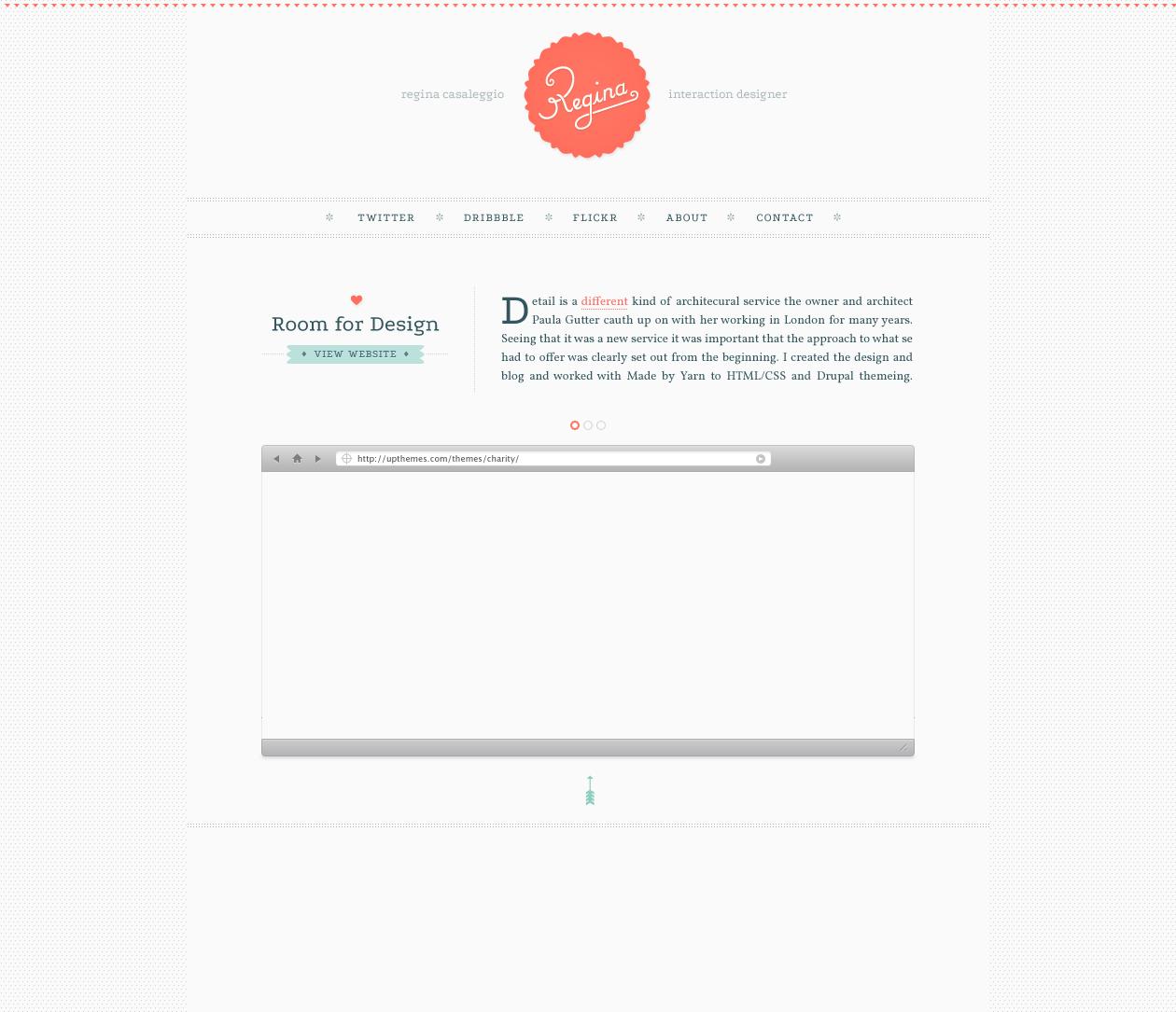Regina portfolio site
