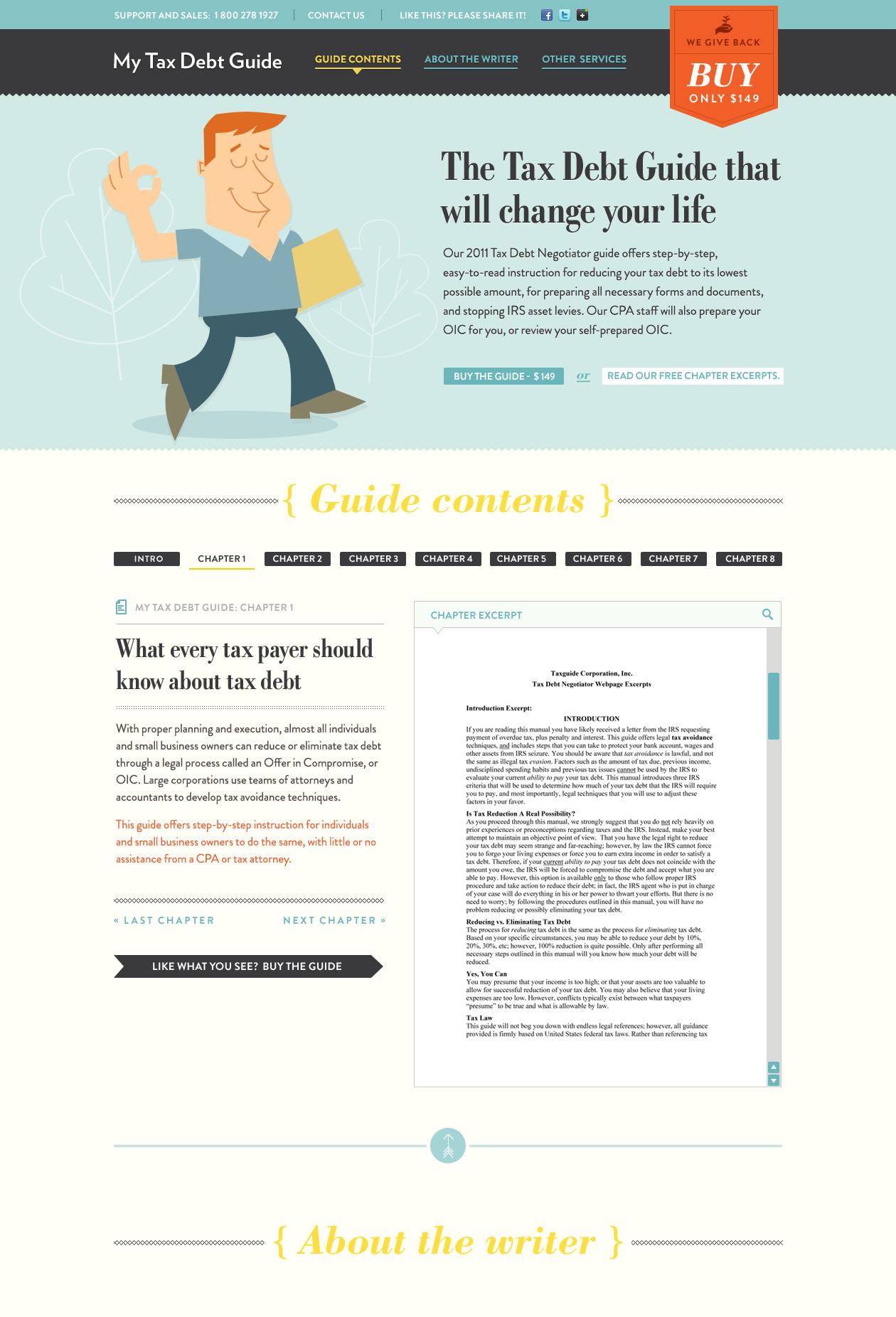 Tax guide design