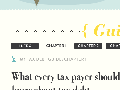 Tax guide update yellow website bodoni bold condensed brandon grotesque bold poster bodoni italic brandon grotesque regular website design ui design