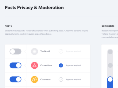 Privacy Settings user experience ux ui user interface gibson privacy settings