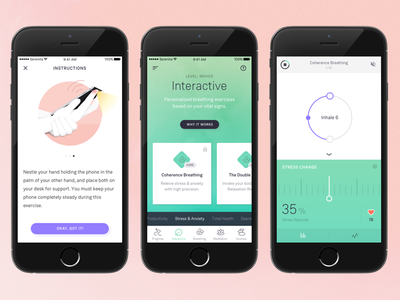 Relaxation App Redesign android iphone weissenhof grotesk green mediation relaxation