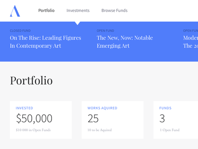 Art Investment Dashboard admin investment dashboard playfair display source sans pro blue art art investment