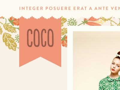 Coco Tumblr Theme tumblr theme floral brandon grotesque populaire