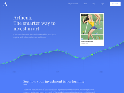 Marketing Site Landing crowdfunding source sans pro fintech investment art investment art blue