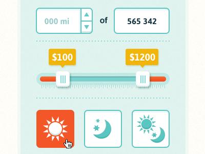 filters asap forms filters sun moon slider input ui user interface website design ui design