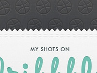 My shots on Dribbble - Flickr set cover