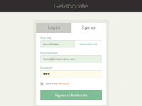 Signup log in