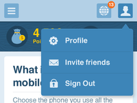 User questions mobile