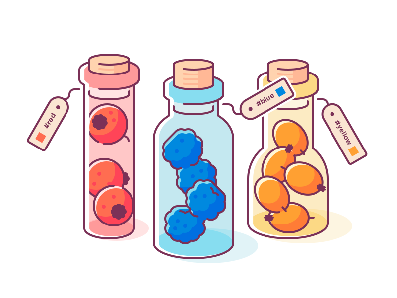 Color Picker ticket berry bottle edgy clean simple flat glyph shape logo icon illustration